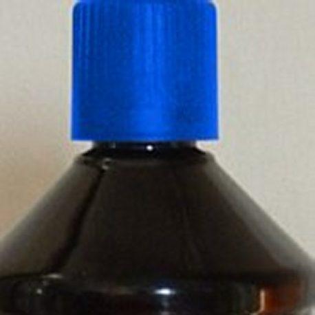 huile de paraffine bleue
